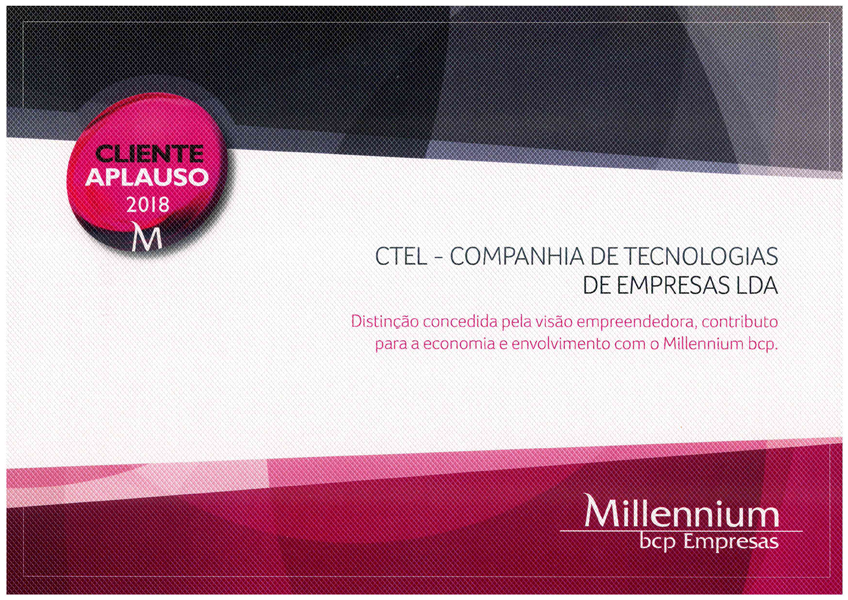 CTEL awarded once again by Millennium BCP